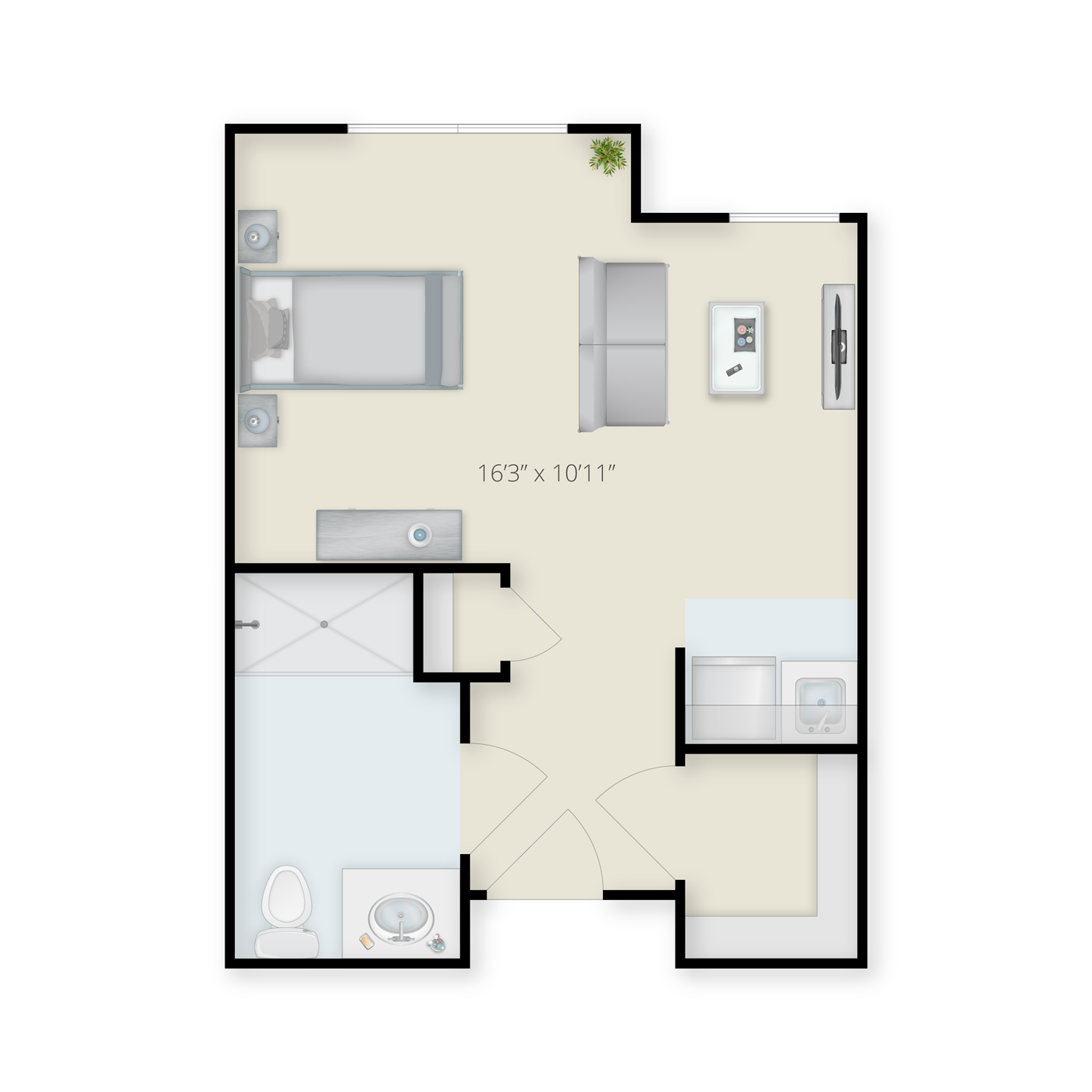 Studio Floor plan A