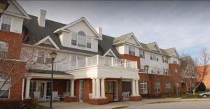 Charter Senior Living of Woodholme Crossing Image Gallery - Front Entrance